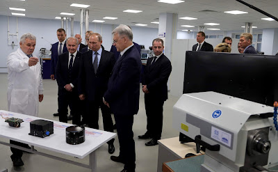 Russian President visited Izhevsk Electromechanical Plant Kupol.
