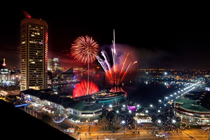 Fireworks at Baltimore's Inner Harbor