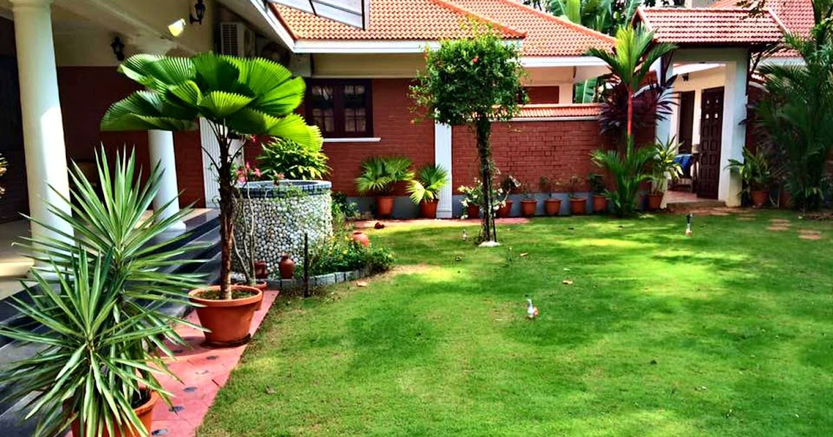 Kerala style landscape design photos  Kerala home design