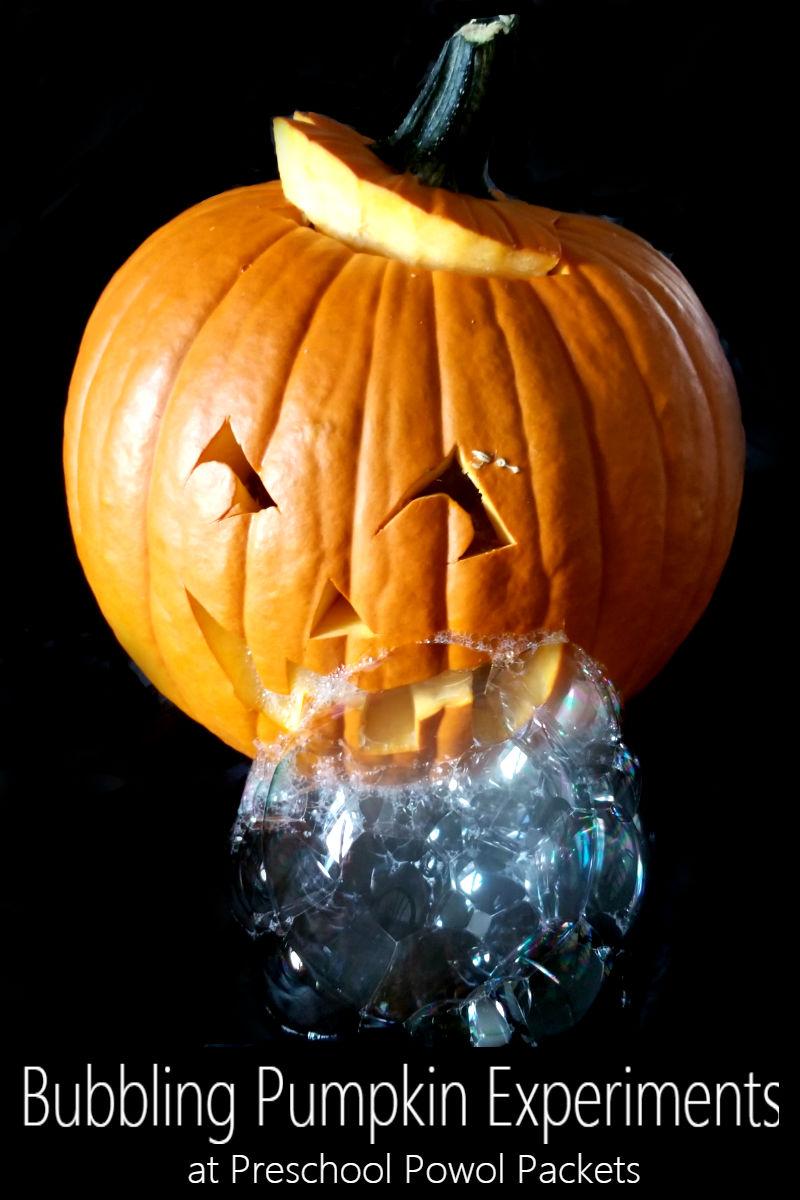 Bubbling Pumpkin Experiments   Preschool Powol Packets