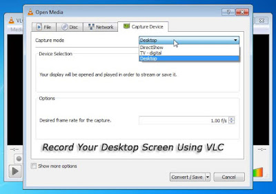 Record Desktop Screen Using VLC