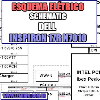 Esquema Elétrico Notebook Dell Inspiron 17R N7010 Laptop Manual de Serviço