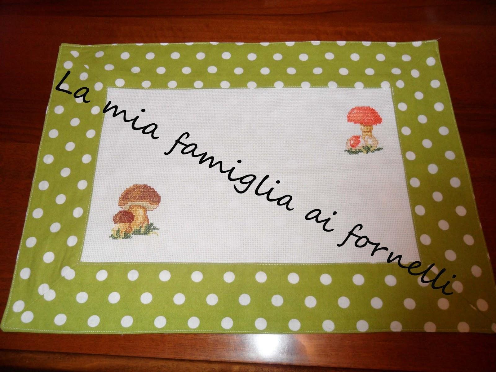 Favoloso La mia famiglia ai fornelli: TOVAGLIETTE AMERICANE A PUNTO CROCE NH09