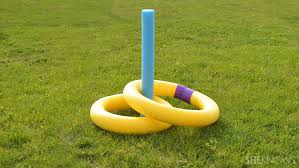 Making a Pool Noodle Ring Toss