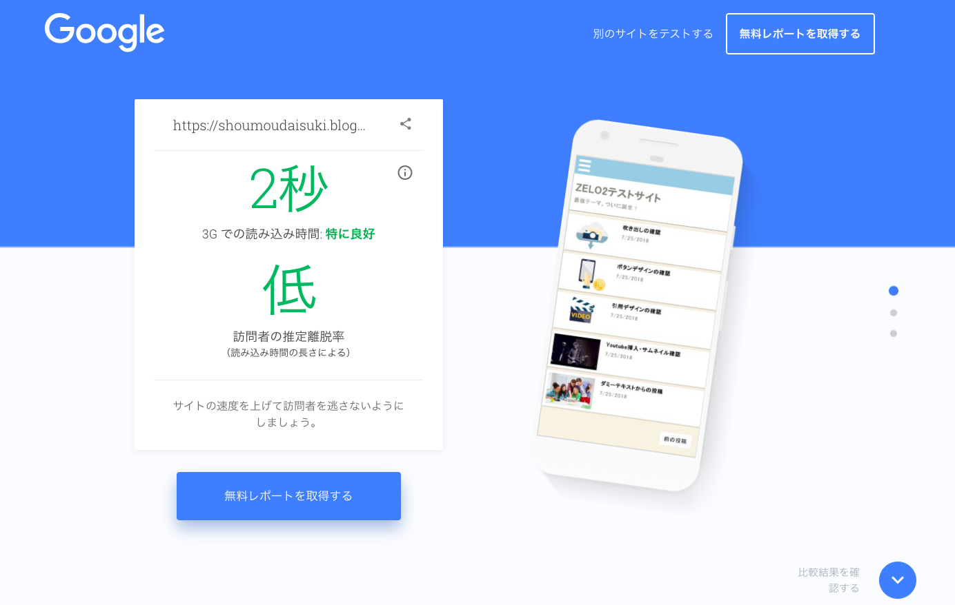 Google -Test My Site-