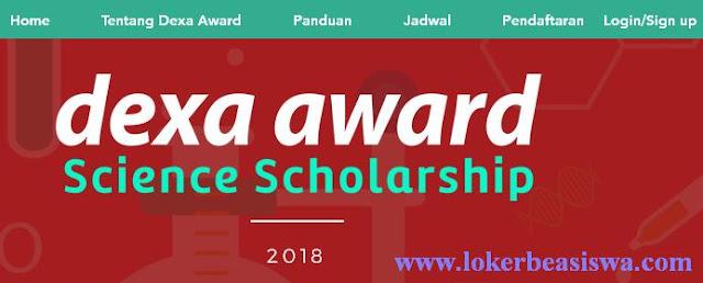 Beasiswa Dexa Award: Science Scholarship 2018 (Full Scholarship)