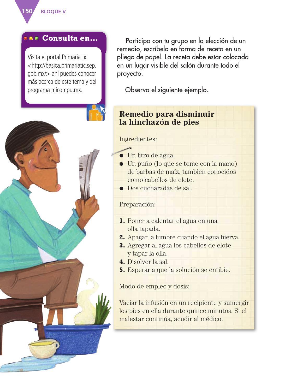 Escribir un recetario de remedios caseros - Español 3ro