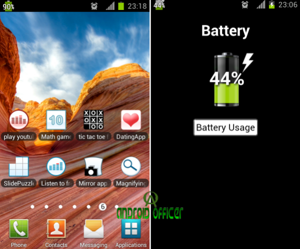 Show Battery Percentage Android App