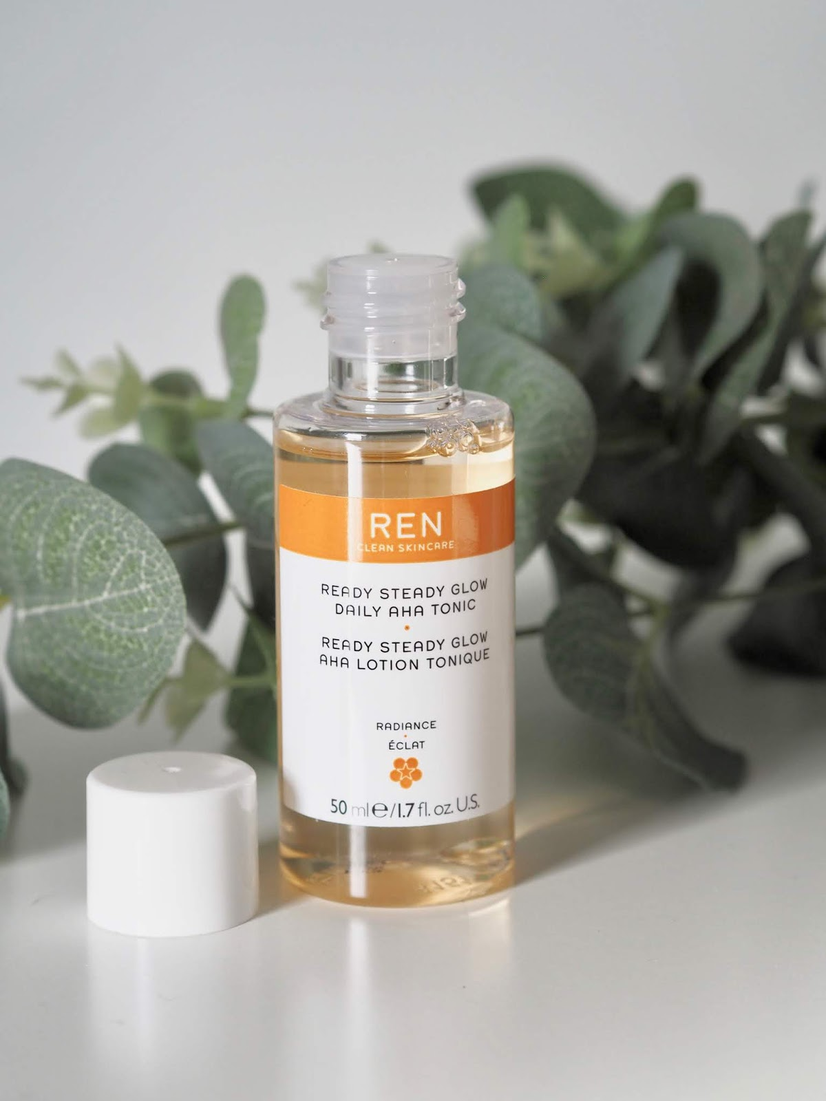 REN ready steady daily AHA tonic for exfoliating and smoother skin