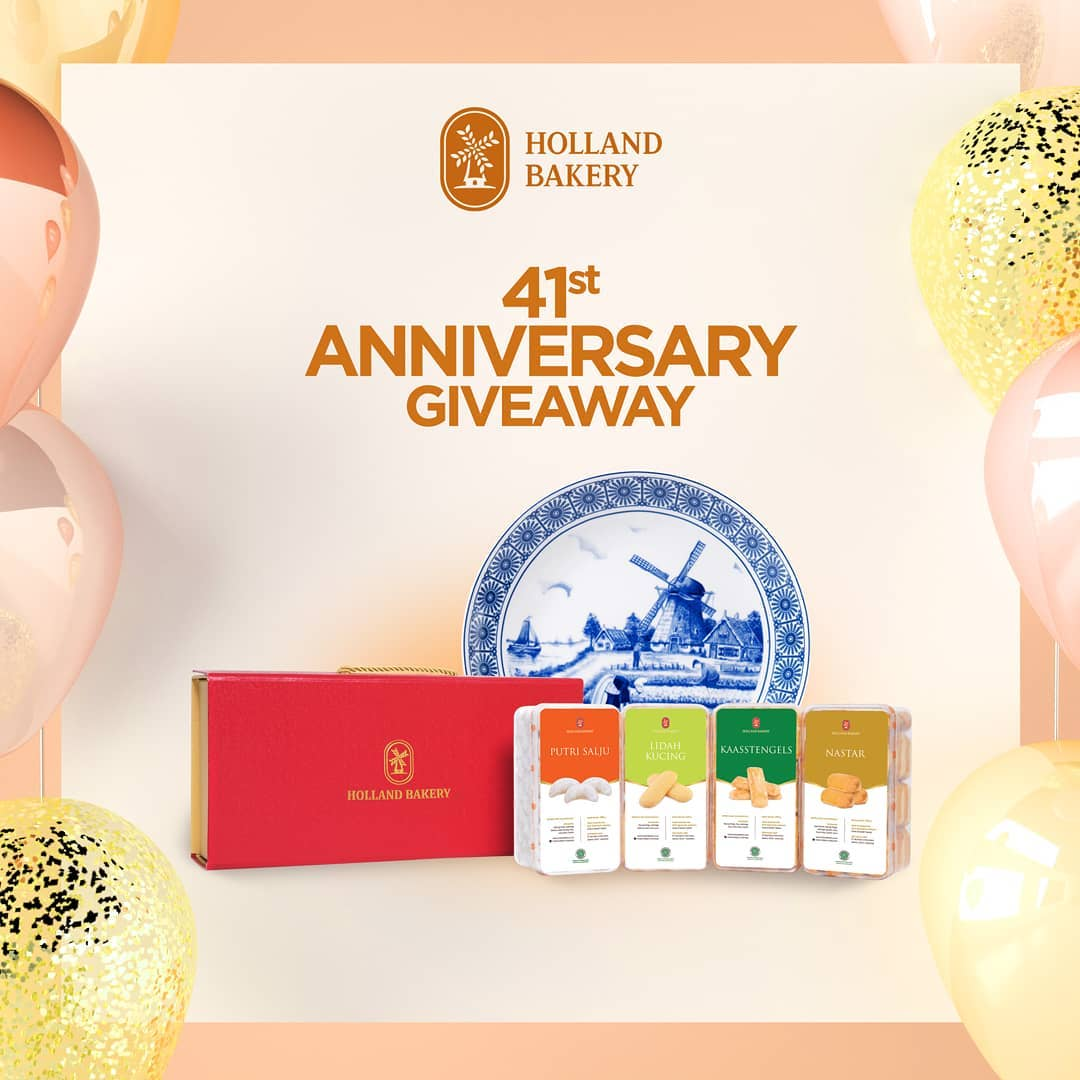 #HollandBakery - Promo #HBGiveaway Ultah Holland Bakery ke 41 (s.d 25 Jan 2019)