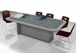 Meja Meeting Untuk 8 Orang - Interior Ruang Pertemuan Semarang