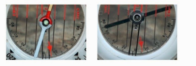 Determination of the Orientation of a Dipping Plane by the the Compass - Clinometer (Photos)