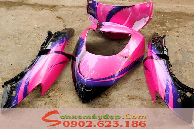 Attila Victoria Sơn phối màu hồng xanh đen
