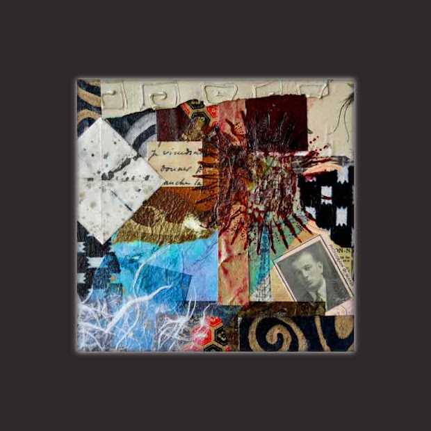 Contemporary Art Collage Painting