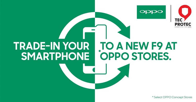 OPPO, AmTrust Mobile Solutions Offer F9 Trade-in Program