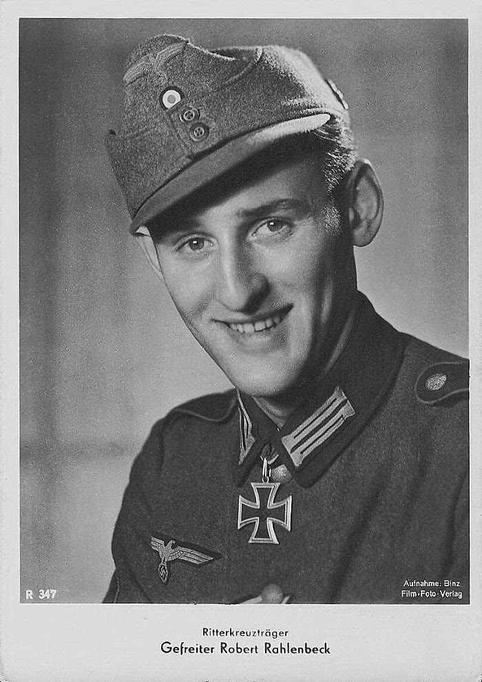 Robert Rahlenbeck Ritterkreuzträger Knight Cross Holder Postcard