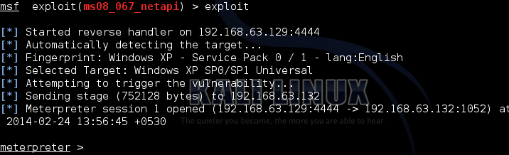 Exploiting the XP target