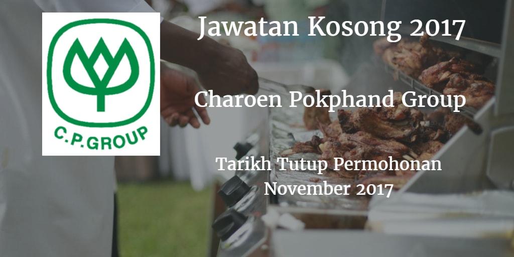 Jawatan Kosong CHAROEN POKPHAND  GROUP, MALAYSIA November 2017