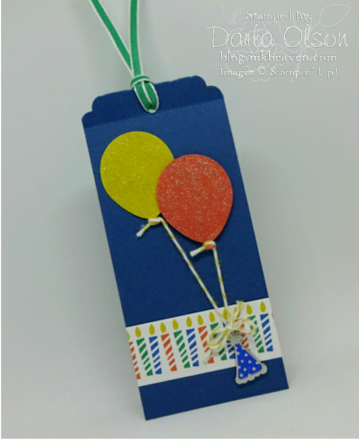 Gift Tag shared by Darla Olson at inkheaven to celebrate 1000 blog posts