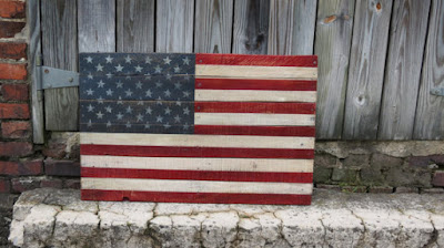 the scarlet oak reclaimed wood american flag