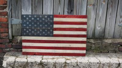 the scarlet oak reclaimed wood american flag
