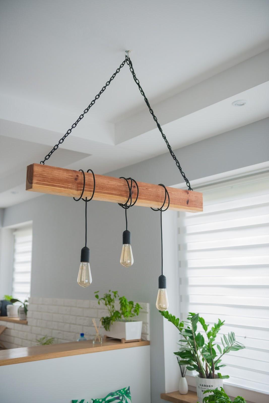 Drewniana Lampa W Stylu Loft Do Salonu Diy Kate Likes It