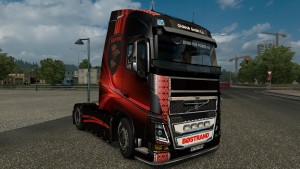 Ukrop Red Skin for Volvo FH16 Ohaha 2013