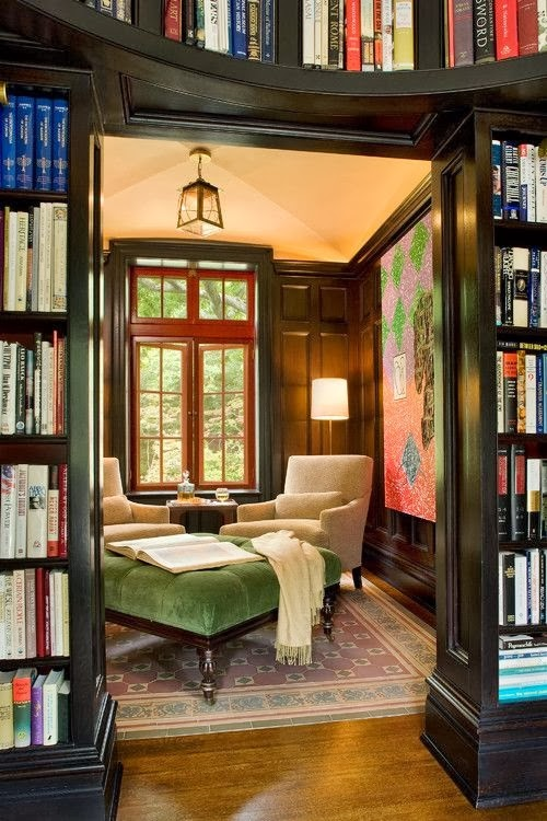 Small Library Room Decorating Ideas: The Domestic Curator: MY PASSION: Reading Nooks For