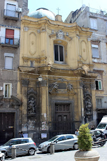 The Baroque church of Santa Maria della Colonna in Naples