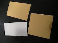 oro plata carton
