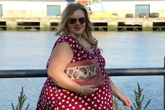 Scarlett and Jo Lollidot Heart Print Dress Image Guess Bag Michael Kors Sunglasses Plus Size