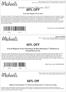 free Michaels coupons for february 2017