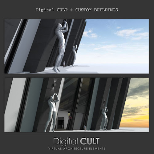 Digital CULT - Virtual Reality Lab: Second Life Building - The
