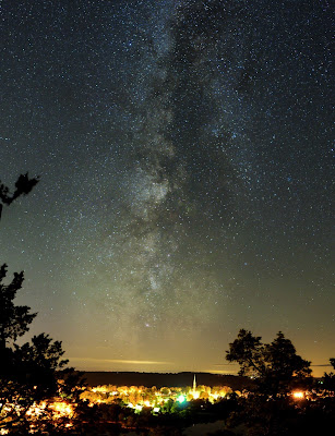 The Milky Way over Westport, Ontario