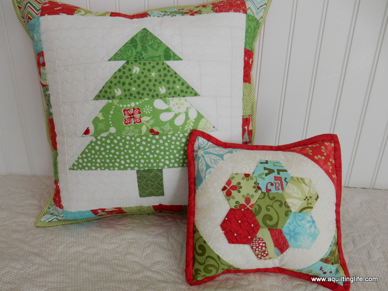 Quilted Christmas Pillows | A Quilting Life - a quilt blog