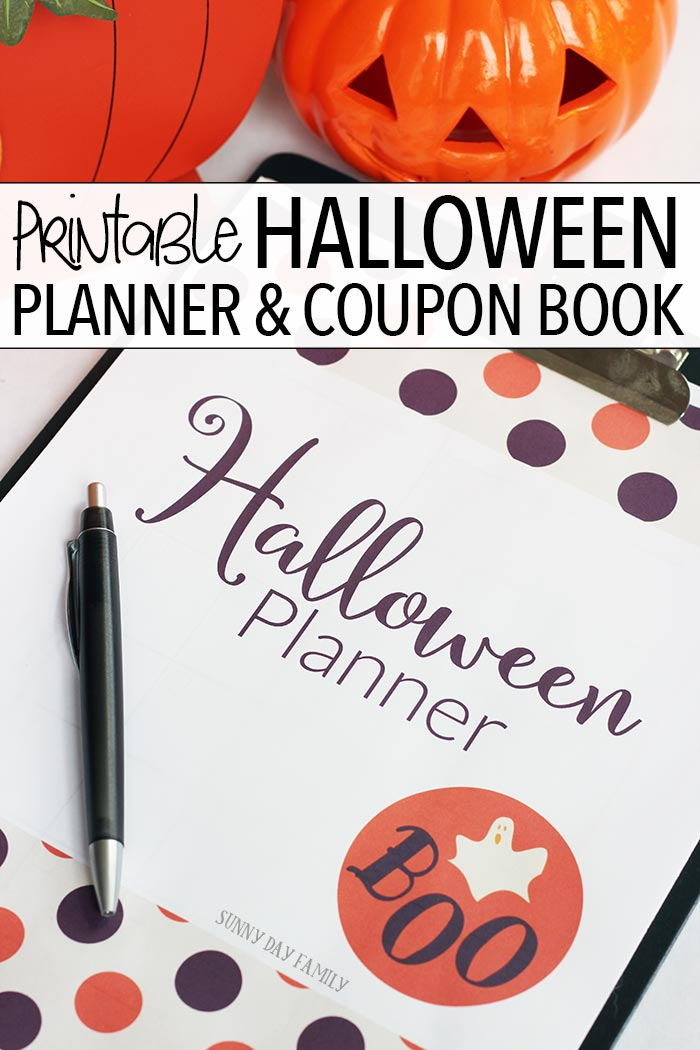 Get organized for the best Halloween ever with this printable Halloween planner! Includes pages to help plan Halloween parties, Halloween costumes, Halloween decorations, Halloween activities and crafts, DIY projects and more. Plus 10 Halloween fun coupons that are perfect for goody bags!