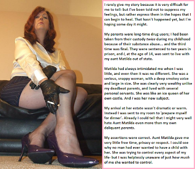 sissy slave and femdom captions
