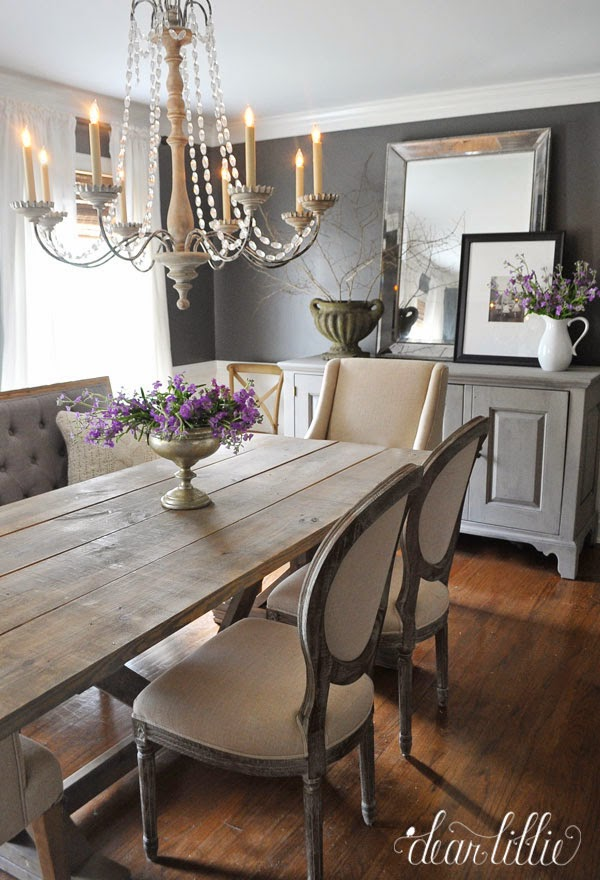 Dear lillie kendall charcoal in our dining room for Best dining room looks