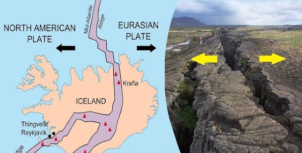 Islandia se esta partiendo en 2 partes.