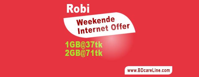 Robi weekend internet offer