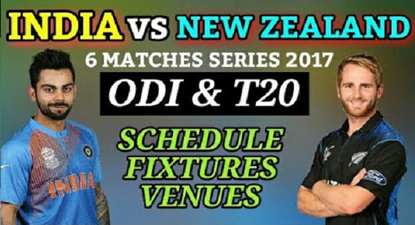 India vs New Zealand Schedule