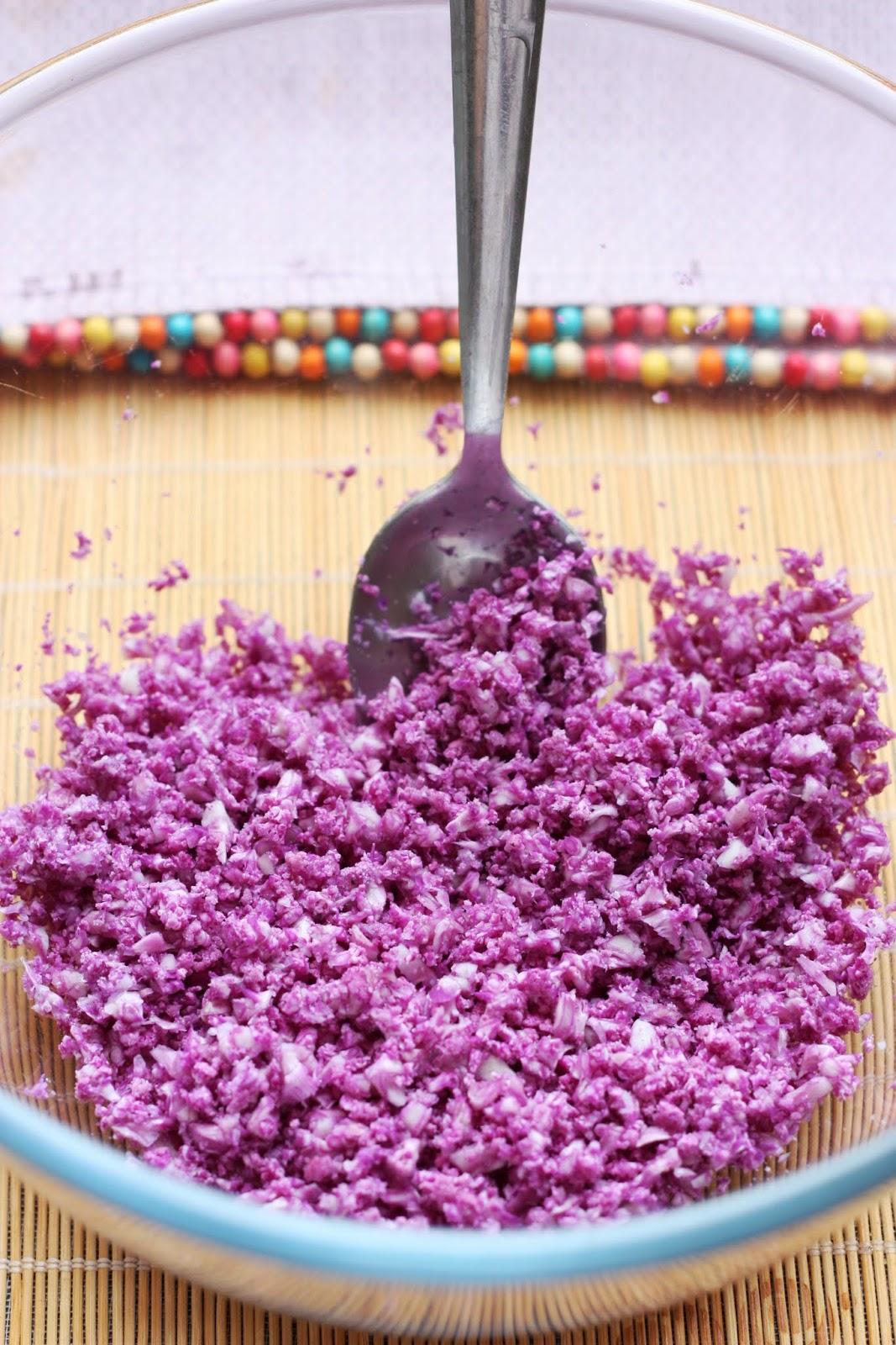 Les petits plats de Rose: Taboulé de chou-fleur violet à la violette