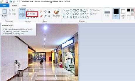 Cara Merubah Dan Memperkecil Ukuran Foto/Image Menggunakan MS Paint