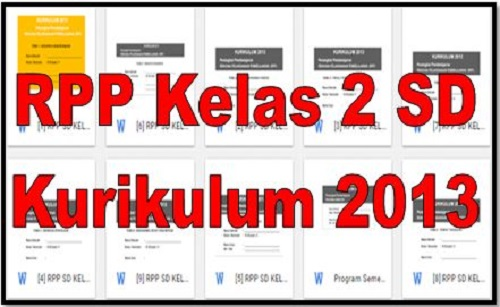 Download RPP Kelas 2 SD Kurikulum 2013