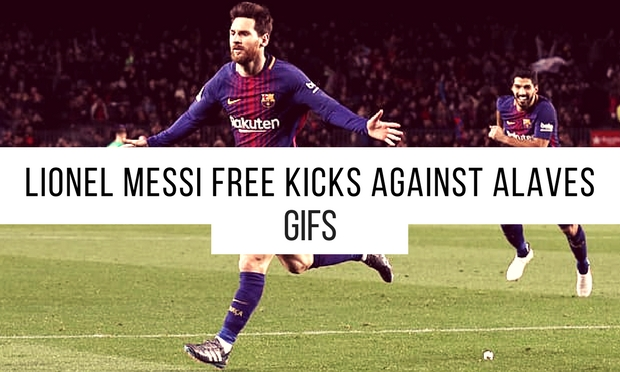Lionel Messi brilliant free kick against Alaves