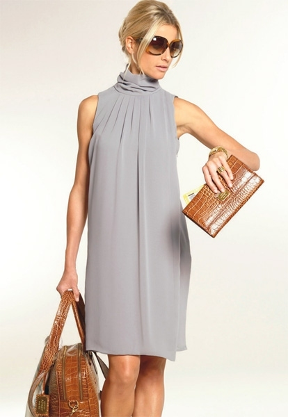 Шифоновое платье туника.  Вечерние платье каталог.