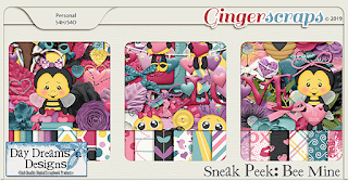 Creative Team, Annemarie, for GingerScraps – Free Daily Download to obtain a Full Sized Kit -  Bee Mine {Kit} by Day Dreams