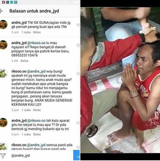 Video Pemuda Nangis Dihajar TNI Karena Hina TNI Tak Berguna Jadi Viral