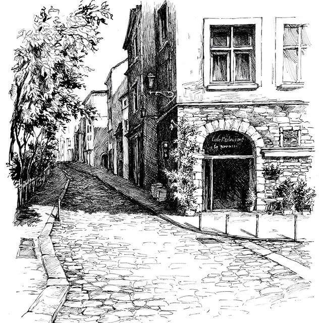 01-Cobbled-Street-sketches-Asmik-Babaian-www-designstack-co