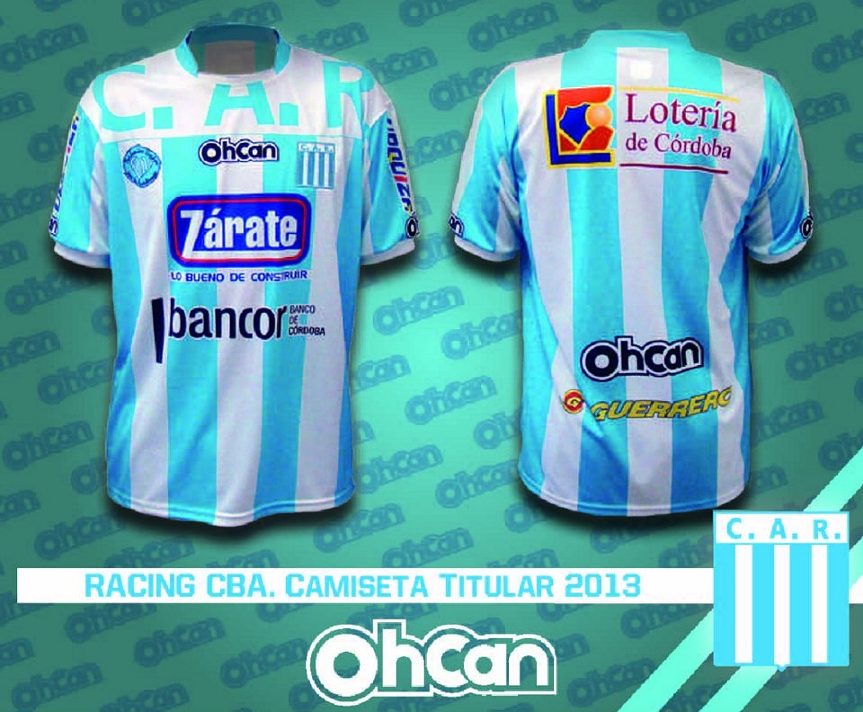 Ohcan lança as novas camisas do Racing de Córdoba 3779db3dedbfe